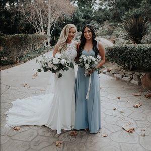 Jenn Maxi Dress Steel Blue Chiffon